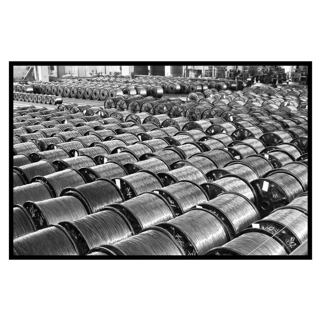 Copper reels. Wuxi, China.