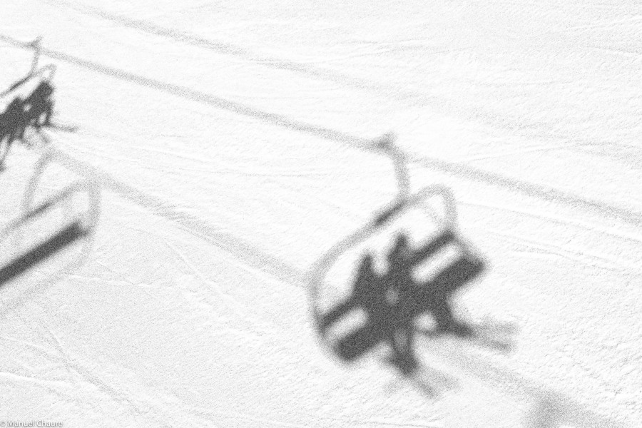 Self portrait on the snow. Andorra