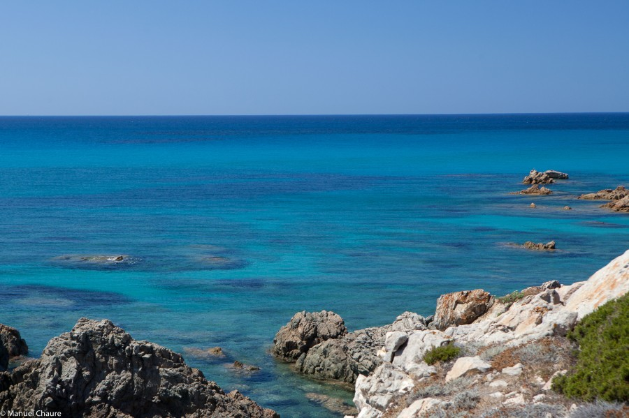 In blue. Sardinia, Italy